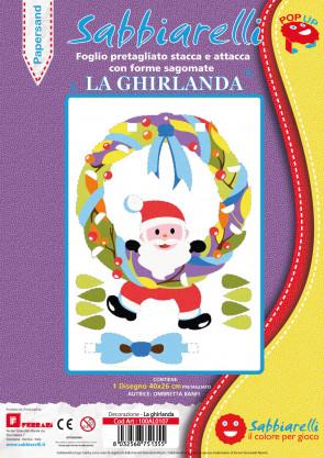 Decorazione Papersand - La ghirlanda - 1 maxi disegno Pop-Up (26x40cm)