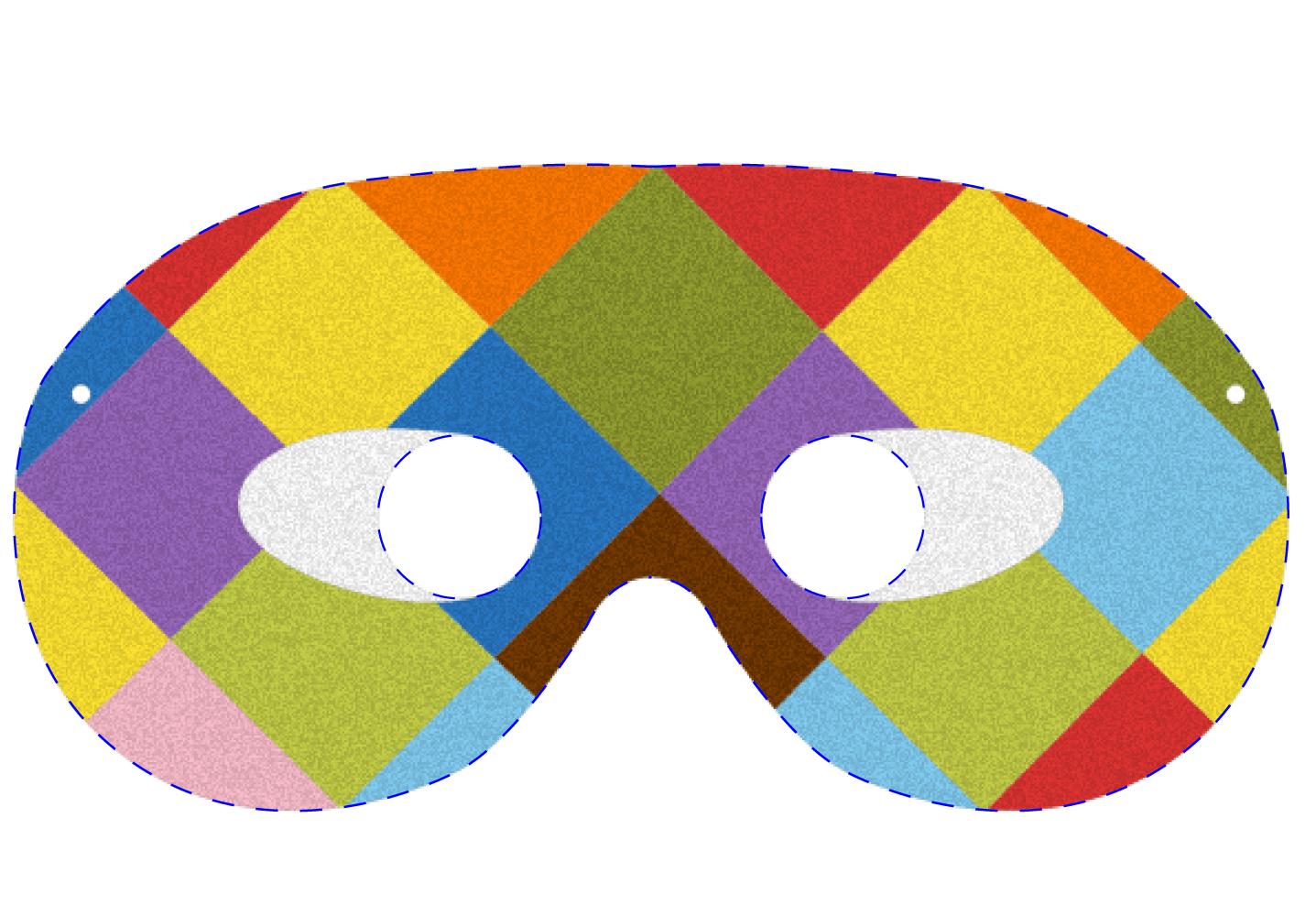 Novit - Pagina colorazione maschera gatto ...