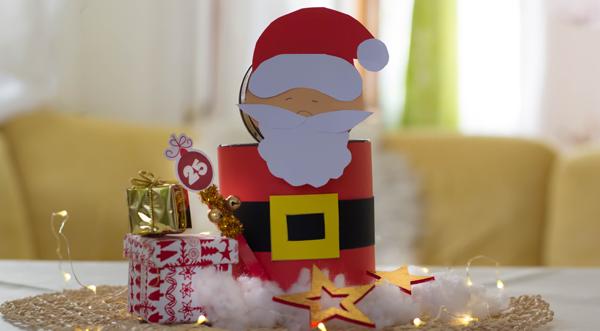 Centrotavola di Babbo Natale con i Sabbiarelli